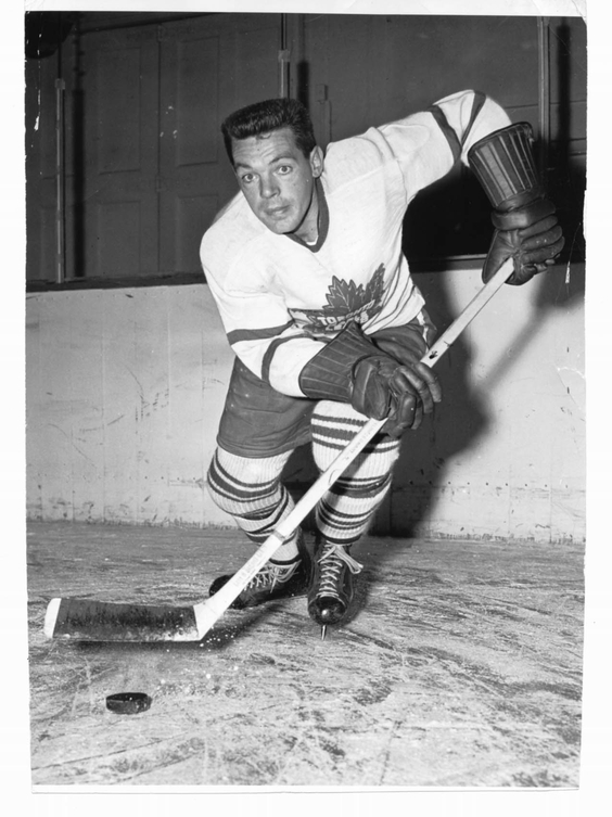 Hall of Famer and former Leafs great Howie Meeker served his country, like many other NHL stars, during the Second World War.
