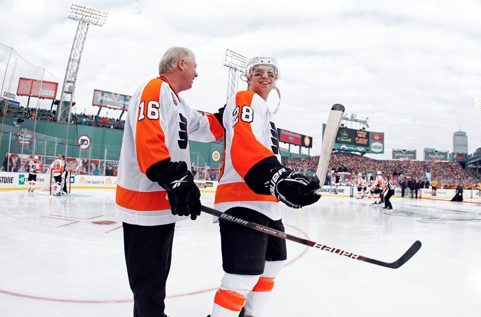 Bobby Clarke and Claude Giroux|USA Today