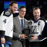 Tampa Bay's Victor Hedman, Vincent Lecavalier and Steven Stamkos.|USA Today
