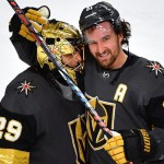 Marc-Andre Fleury (left) and Mark Stone|Stephen R. Sylvanie-USA TODAY Sports